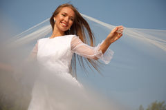 Cheerful bride Stock Photo