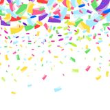 Cheerful bright colorful festive confetti falling background Royalty Free Stock Images