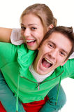 Cheerful bright couple Stock Image