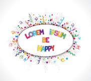 Cheerful bright label Stock Photo