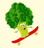 Cheerful broccoli Stock Image