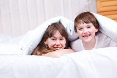 Cheerful brother and  sister Royalty Free Stock Image