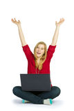 Cheerful browser Stock Image