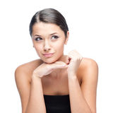 Cheerful brunette woman Royalty Free Stock Photos