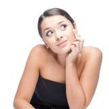 Cheerful brunette woman Stock Photos