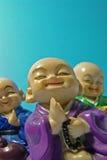 Cheerful Buddhas Meditating Stock Image