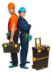 Cheerful builders workers Stock Image
