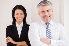 Cheerful business colleagues. Royalty Free Stock Photo