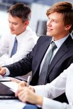 Cheerful business guy Stock Images