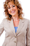 Cheerful business lady Royalty Free Stock Image