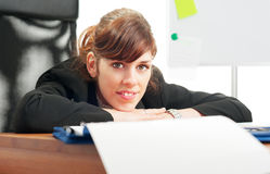 Cheerful business lady Stock Photography