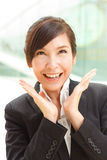 Cheerful business lady Stock Photos