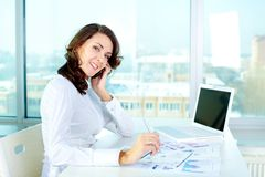 Cheerful business lady Royalty Free Stock Photo