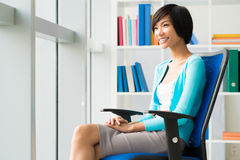 Cheerful business lady Stock Image