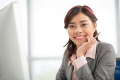 Cheerful business lady Stock Photo