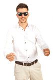 Cheerful business man pointing to you Royalty Free Stock Photo