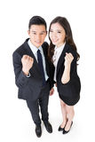 Cheerful business man and woman Stock Photos