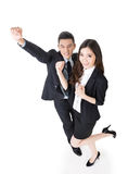 Cheerful business man and woman Royalty Free Stock Image