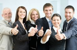 Cheerful business people Royalty Free Stock Image