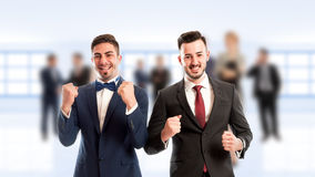 Cheerful business people Stock Photos