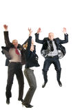 Cheerful business people jumping Royalty Free Stock Photos