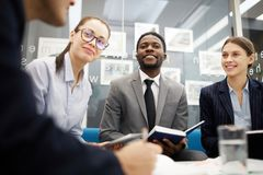 Cheerful Business People in Meeting royalty free stock photo