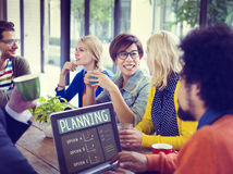 Cheerful Business People Planning Coffee Break Concept Royalty Free Stock Image
