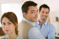 Cheerful business team royalty free stock photos
