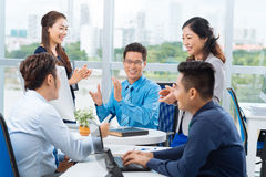 Cheerful business team Royalty Free Stock Images