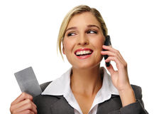 Cheerful business woman Stock Photo