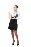 Cheerful business woman dressed Stock Photos
