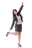 Cheerful business woman Stock Photos
