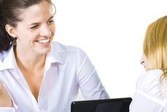 Cheerful business woman isolated Stock Photos