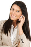 Cheerful business woman Stock Image