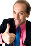 Cheerful businessman. Portrait on white background stock images