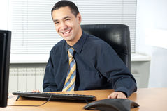 Cheerful  businessman Royalty Free Stock Images