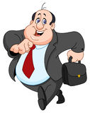 Cheerful businessman. Cartoon illustration of a cheerful businessman royalty free illustration