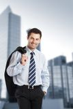 Cheerful Businessman Stock Photos