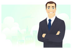 Cheerful businessman Stock Images