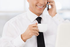 Cheerful businessman. Royalty Free Stock Photography