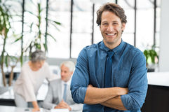 Cheerful businessman laughing Stock Photography