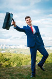Cheerful businessman Royalty Free Stock Photos