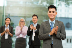 Cheerful businessman Royalty Free Stock Photography