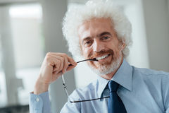 Cheerful businessman portrait Stock Photography