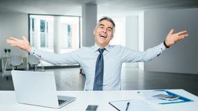 Cheerful businessman portrait Royalty Free Stock Photo