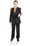 Cheerful businessman ready for handshake. Isolated Royalty Free Stock Photo