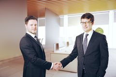 Cheerful businessman shaking hands Royalty Free Stock Photo