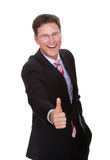 Cheerful Businessman Showing Thumbsup royalty free stock photography