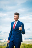 Cheerful businessman Stock Photos