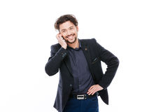 Cheerful businessman talking on the phone Royalty Free Stock Photo